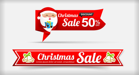 026 Collection of Merry Christmas sale web tag banner promotion