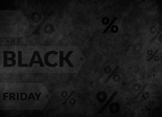 Black Friday Concept create on Old Black Vintage Leather Texture Background, Sale and Promotion on Black Friday
