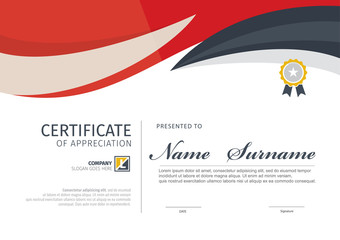 Vector template for certificate or diploma