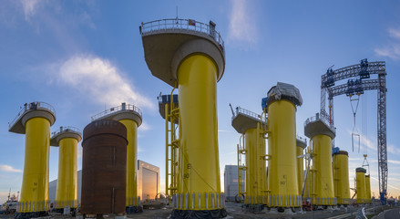 Factory platform in offshore wind farm