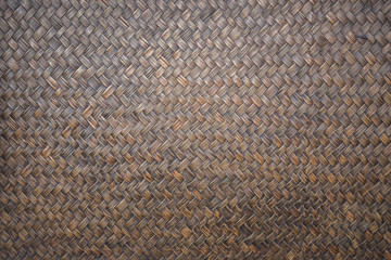 Detail of handmade bamboo weave texture for background