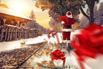 santa claus and winter day