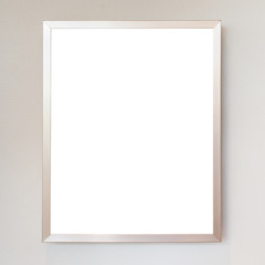 Empty metal frame isolated on white. Saved with clipping path