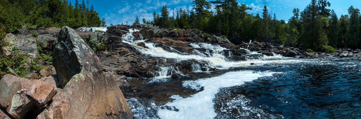 Sand River waterfall cascade in Lake Superior Provincial Park