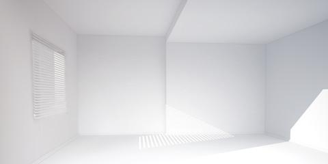 white room background 3d rendering illustration