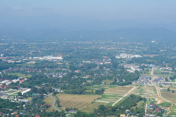 top view of country.