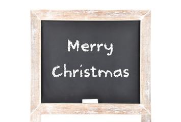 Weihnachtsgrüsse auf Schultafel