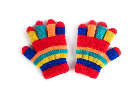 Multicolor children's gloves