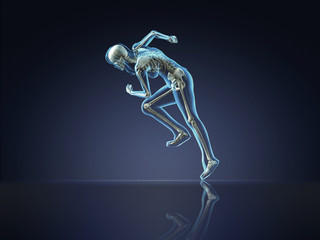 X-ray Fitness Woman Running