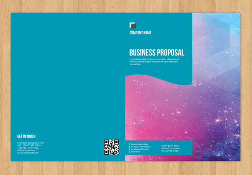 Business Proposal Layout with Map Illustration