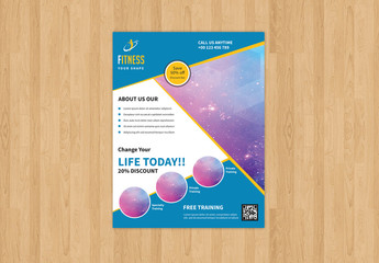 Fitness Club Flyer Layout 2