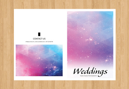 Clean and Simple Wedding Program Layout 1