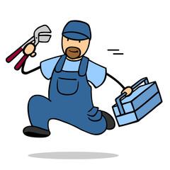 Klempner kommt als Notdienst bei Rohrbruch
