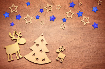 Christmas decoration with fir and deer.