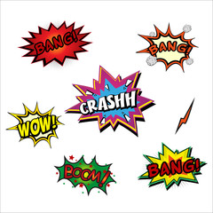 Set of stickers, patches in cartoon 80s-90s comic style. Fashion Retro Vintage Background. Fashion patch badges vector illustration isolated on white background