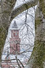 Helsingborg Town Hall Snowing