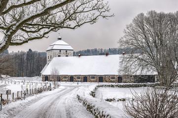 Hovdala Castle Stables in Winter