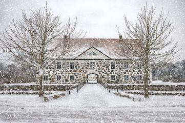 Hovdala Castle Main house in Winter