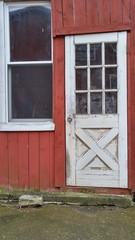 Red Barn Door and Window