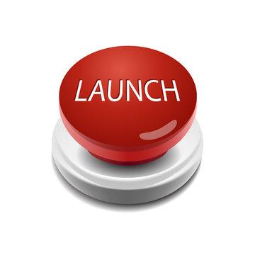 Launch button vector illustration