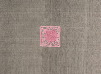 background of the fabric and textile material gray square pattern pink
