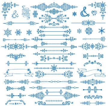 Winter decor,Divider bordes.Christmas,New Year set