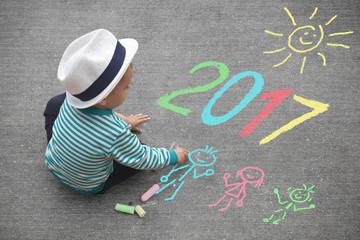 Kinderzeichnung, Neujahr 2017