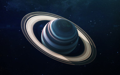 Wall Mural - Saturn - High resolution beautiful art presents planet of the solar system. This image elements furnished by NASA