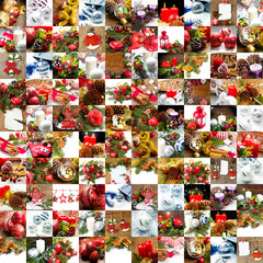collage of different photos of christmas decoration