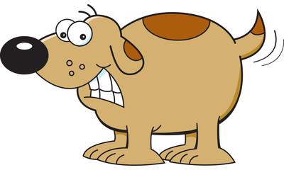 Cartoon illustration of a smiling dog