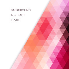 Abstract background with bright geometric shapes.