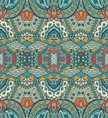 ethnic intricate seamless tribal  pattern