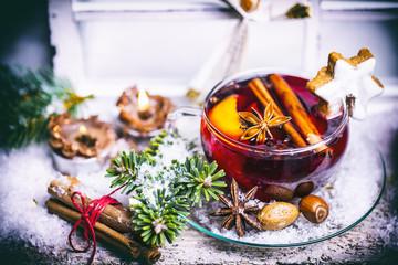 Weihnachten HIntergrund Glühwein