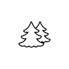 fir spruce pine tree wood christmas xmas decorating outline thin