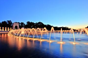 World War II Memorial in Washington DC at Dusk