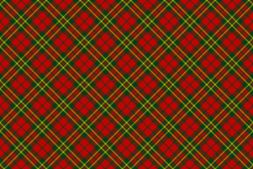 Seamless christmas tartan pattern