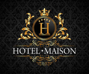 Luxury, Royal and Elegant Logo Vector Design