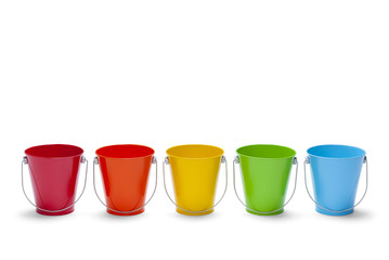 Rainbow Buckets Wall mural