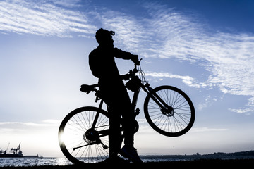 Silhouettes Of Biker