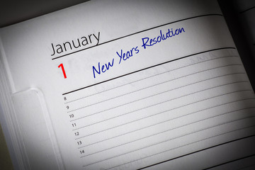 Blank Diary New Years Resolution Page