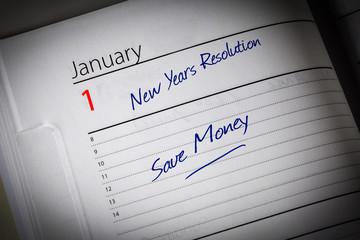 Save Money Diary Resolution