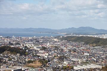 松江市 市街地 鳥瞰 南部
