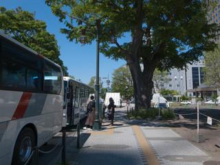 バスの到着