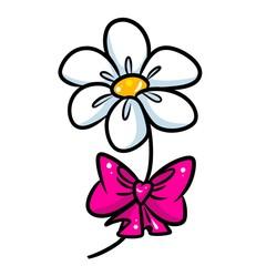 Flower gift bow cartoon illustration isolated image
