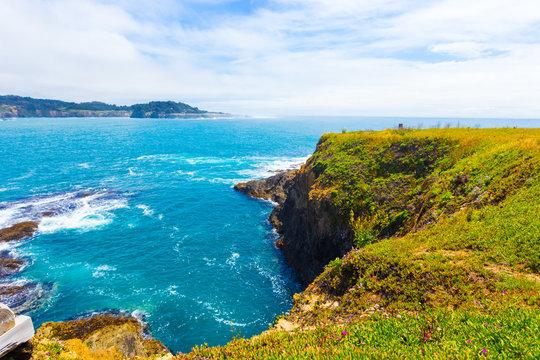 Rocky Coastline Mendocino Bay Cliffs Ocean H