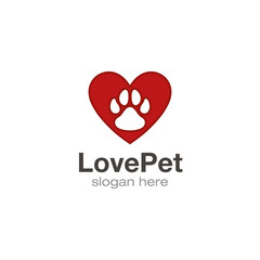 Pet lover logo design vector