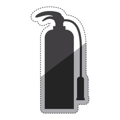 Extinguisher icon. Emergency tool rescue save and department theme. Isolated design. Vector illustration