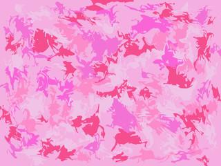 Folhas rosas abstratas espalhadas