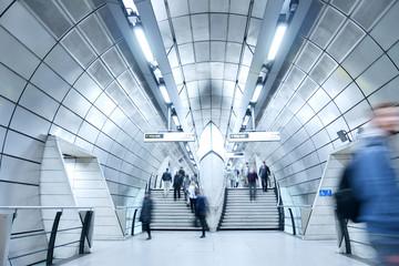 London train tube station in rush hour