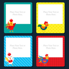 rooster year card template